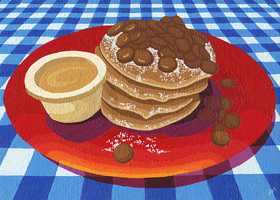 Poster featuring the painting Pancakes Week 4 by Meg Shearer