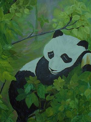 Panda Poster by Christy Saunders Church