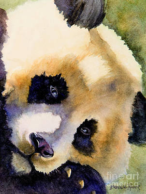 Poster featuring the painting Panda Cub by Bonnie Rinier