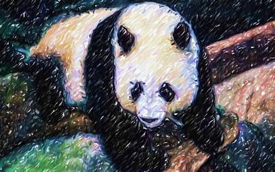 Panda In The Rest Poster by Lanjee Chee