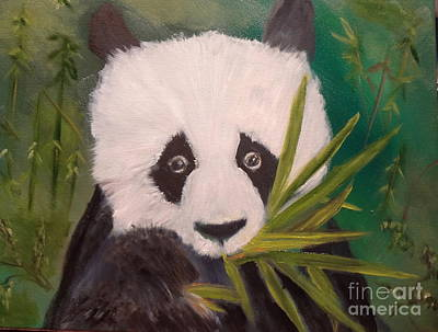 Poster featuring the painting Panda by Jenny Lee