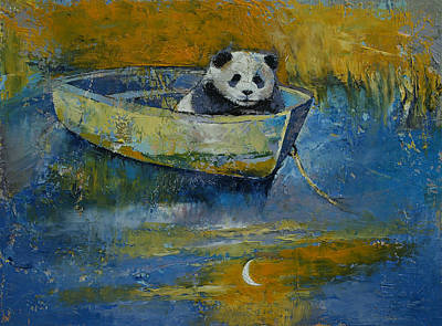 Panda Sailor Poster by Michael Creese