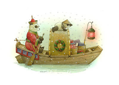 Pandabears Christmas Poster by Kestutis Kasparavicius
