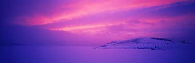 Panguitch Lake At Sunset, Utah, Usa Poster