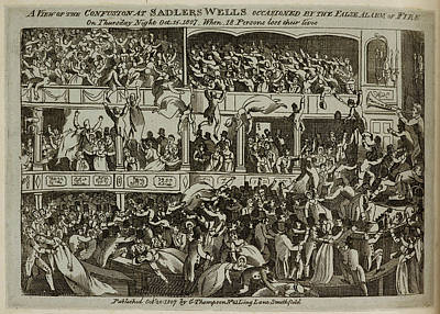 Panic At Sadlers Wells Theatre Poster by British Library