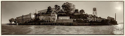 Panorama Alcatraz Torn Edges Poster by Scott Campbell