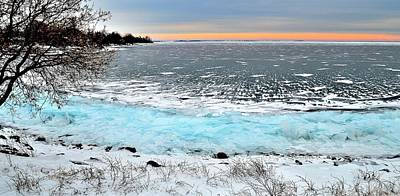 Panorama Freeze - Horsey Bay - Kingston - Canada Poster