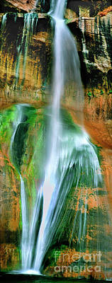 Poster featuring the photograph Panorama Lower Calf Creek Falls Escalante Nm Utah by Dave Welling