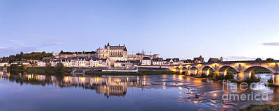 Panorama Of Amboise Loire Valley France Poster by Colin and Linda McKie