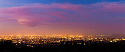 Panorama Of Dublin City At Blue Hour Poster by Semmick Photo