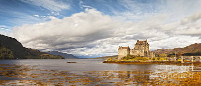 Panorama Of Eilean Donan Castle Scotland Poster by Colin and Linda McKie