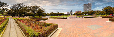 Panorama Of Hermann Park Houston Texas Poster by Silvio Ligutti