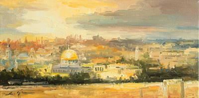 Panorama Of Jerusalem Poster