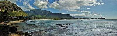 Panorama Of Makaha Beach Poster
