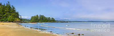 Panorama Of Pacific Coast On Vancouver Island Poster