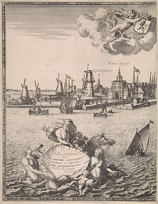 Panorama Of Rotterdam, The Netherlands, Jan Houwens Poster