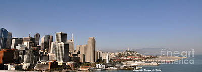 Poster featuring the photograph Panorama Of San Francisco by Debby Pueschel