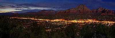 Panorama Of Sedona Red Rocks Arizona Poster by Silvio Ligutti