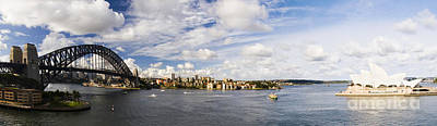 Panorama Of Sydney Harbor Poster