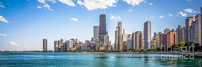 Panorama Photo Chicago Skyline Poster by Paul Velgos