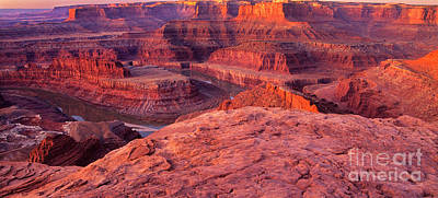 Poster featuring the photograph Panorama Sunrise At Dead Horse Point Utah by Dave Welling