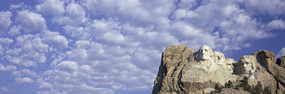 Panoramic Image With White Puffy Clouds Poster by Panoramic Images