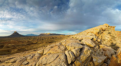 Panoramic Of Factory Butte, The Henry Poster