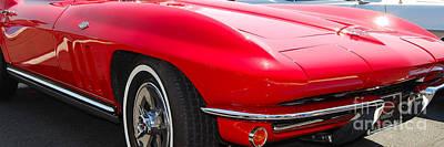 panoramic red Corvette Poster