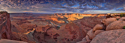 Poster featuring the photograph Panoramic Sunrise Over Dead Horse Point State Park by Sebastien Coursol