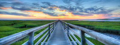 Panoramic View Bass Hole Boardwalk Poster