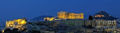 Panoramic View Of Acropolis Of Athens Poster