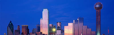 Panoramic View Of Dallas, Tx Skyline Poster