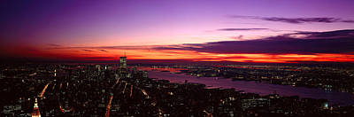 Panoramic View Of Empire State Poster by Panoramic Images