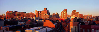Panoramic View Of Lower East Side Poster