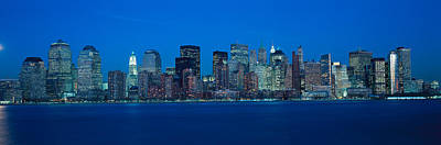 Panoramic View Of Lower Manhattan Poster by Panoramic Images
