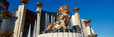 Panoramic View Of Mgm Lion And Mgm Poster by Panoramic Images
