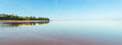 Panoramic View Of Minas Basin At Low Tide Poster by Vadim Petrov