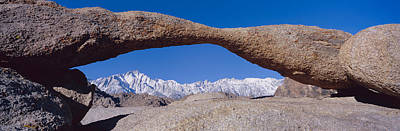Panoramic View Of Mount Whitney Framed Poster by Panoramic Images