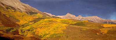 Panoramic View Of Mountains, Telluride Poster by Panoramic Images