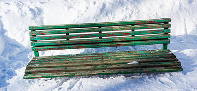 Panoramic View Of Park Bench - Featured 2 Poster by Alexander Senin