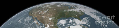 Panoramic View Of Planet Earth Poster