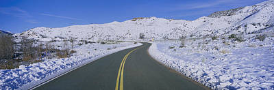 Panoramic View Of Winter Snow Poster by Panoramic Images
