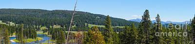 Panoramic Yellowstone Landscape Poster