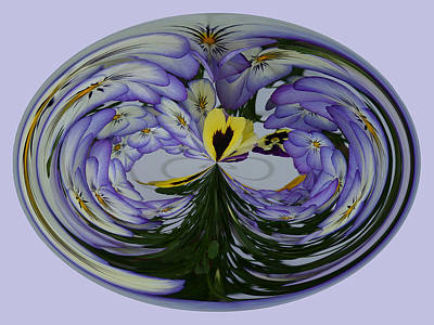 Poster featuring the photograph Pansy Series 507 by Jim Baker