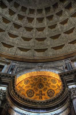 Pantheon Ceiling Detail Poster