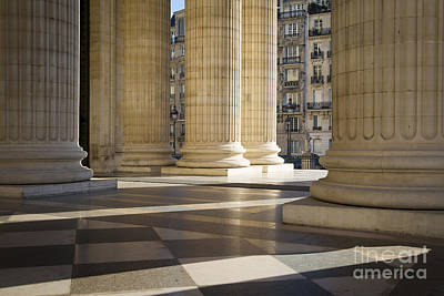 Pantheon Columns Paris Poster