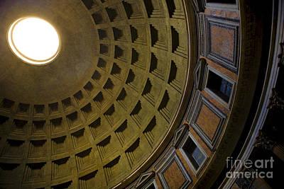 Pantheon Dome Interior Poster by Diane Diederich