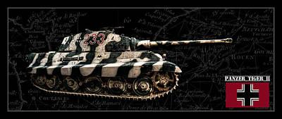 Panzer Tiger II Side Bk Bg Poster