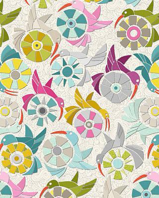 Paper Sunbirds Pearl Poster