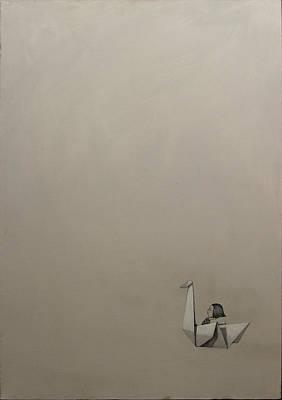 Paper Swan Poster by Konrad Geel